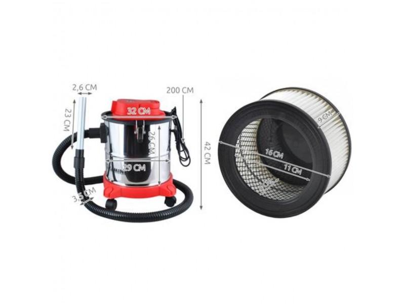 Aspirator Profesional de cenușă Kaminer Vacuum Ash Cleaner 20L